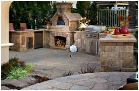 Denver Outdoor Fireplaces With Stone Veneer