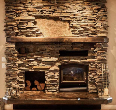 Fireplace Stone Veneer As An Alternative Makeover